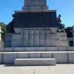 Roll of honour on cenotaph plinth