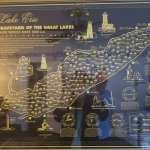 Cool map in room, shows all the sunken ships in Lake Eerie