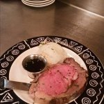 Our delicious slow cooked herb encrusted prime rib