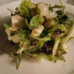 the fresh leafy salad
