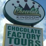 Outdoor directional sign for Chocolate Kingdom