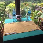 our spot for breakfast every morning - i will miss this table