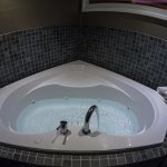 The Jacuzzi in the bedroom. Powerful jets and not too loud when running.