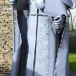 Der heilige Jakobus bei Erkundung des Jacobweges