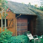 Cutest, coziest cabin that sits in the beautiful garden of their property.