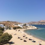 Hotel and private beach area