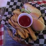 Philly  Chicken and  Cheese Sandwich and fries. Really excellent! Give it a try!