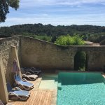 Swimming pool and the view from the garden - Le Cedre