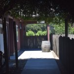 The entrance to the tasting room.