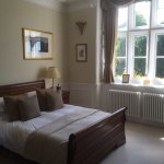 The Wharton Room, beautiful and comfy spacious sleigh bed and fabulous views of the garden.