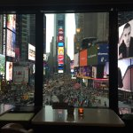 View of Times Square from the lounge