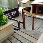 Dock for the Pulitzer's canal boat (tour)