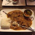 Main. Chicken and Peanut Sauce / Coconut Rice