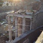 Vue de la terrasse, forum romain