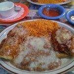Enchilada tamalle combo