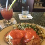 Bloody Mary and Crab Cake Benedict were so good!! Great atmosphere