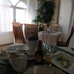restaurante Fanari en Oia, Santorini. Sala interior.
