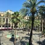 Looking out onto the Plaça Reial from Room 12
