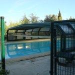 basen w otoczeniu zieleni
