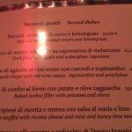 Ca'Leon menu