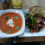 One of the lunch specials deals: Tomato Bisque and Napoli Salad. Delicious!