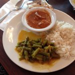 My First Plate (With Chicken Masala, Green Beans, and White Rice)