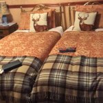 The William Wallace twin room. Comfy & cosy
