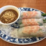 3. Spring Rolls with shrimp and meat