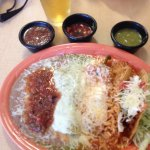 I had a combination plate shredded beef crispy taco and Carnitas enchilada chili Reno I definite