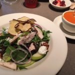 Chicken Apple Salad and Tomato Soup