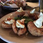 Fried deviled eggs. Happy hour.