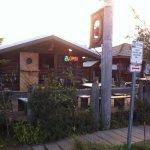 log cabin coffee shop