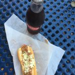 No Onion dog and a Cheerwine (bottle is always better)