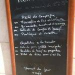Menu brasserie et restaurant du 8 juillet 2016