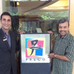 With Mukesh Kumar, Prego Manager