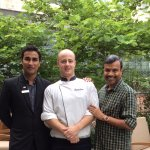 With Prego Manager Mukesh Kumar and Italian Chef Alex