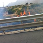 Fires on side of freeway - just so you know our story is genuine