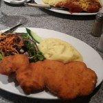 Chicken parmagania and chicken snitchzel