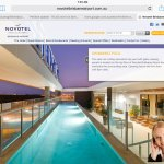 Screen shot of Novotel description of pool