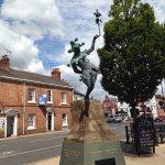 The Jester statue in Stratford