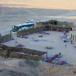 Campo in mezzo al deserto