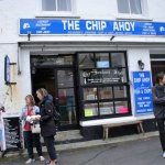 The most UNWELCOMING fish and chip restaurant ever! (unknown people in foreground)