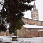 La neve come il manto bianco di un' antica dama del Marchesato...