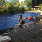 Kids enjoying our private pool.