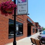 located on one of the main streets in Kalona