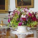 Flower arrangement in Parham House