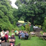 Vintage tractor club meeting in the gardens of The New Inn, July 2016.