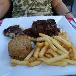 steak de taureau au sel de guérande avec échalotes et frites