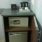 Electronic locker and mini fridge available in all rooms
