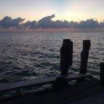 Sunrise on the fishing deck
